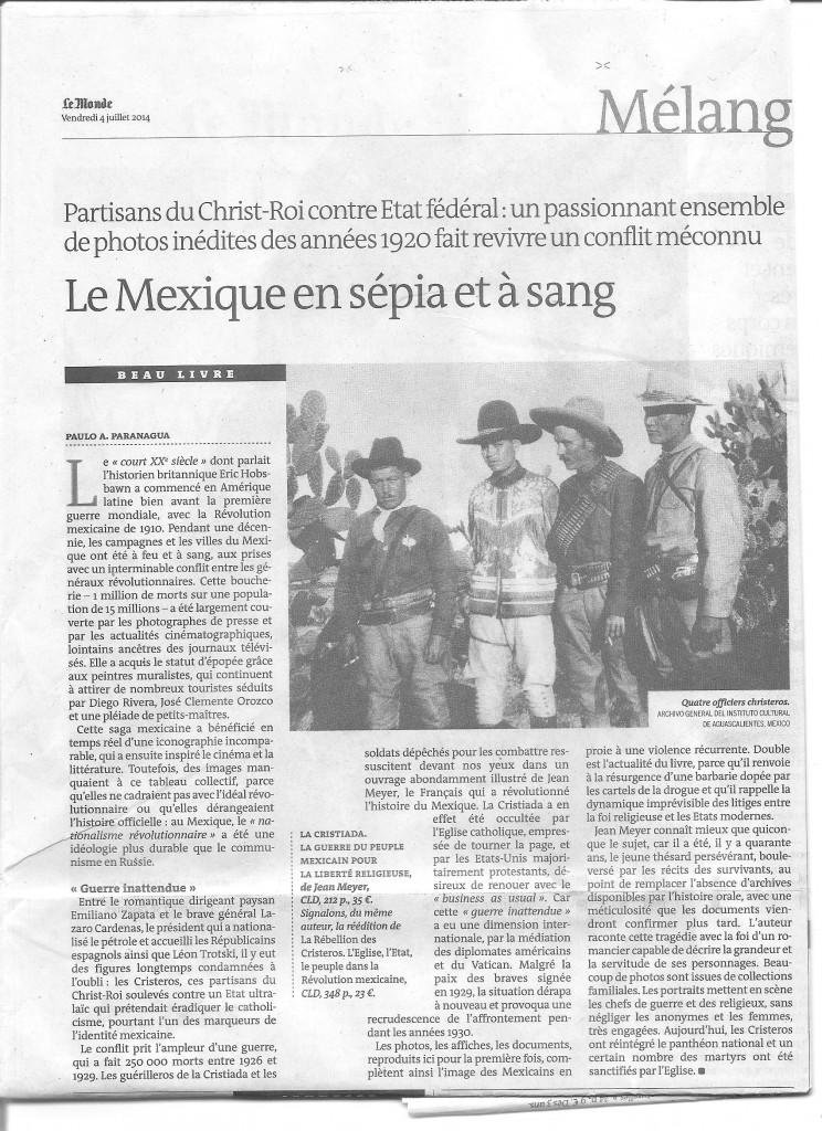 Article du Monde paru le 04 juillet 2014